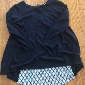 Loft mixed-media tie-back sweater, S